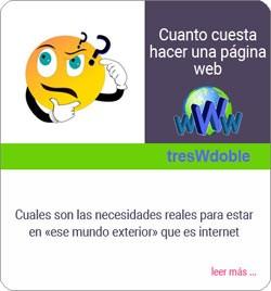 Blog informativo precio web