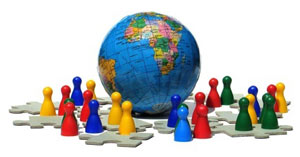 Un mundo alrededores de las redes sociales