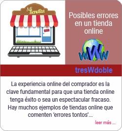 Errores de una tienda online