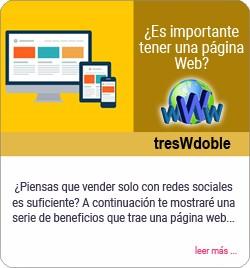 Importancia de tener una página Web